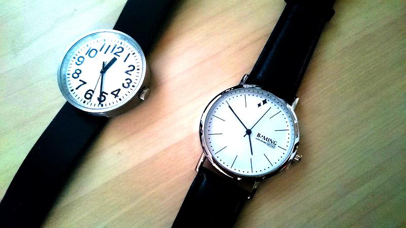 2つの腕時計