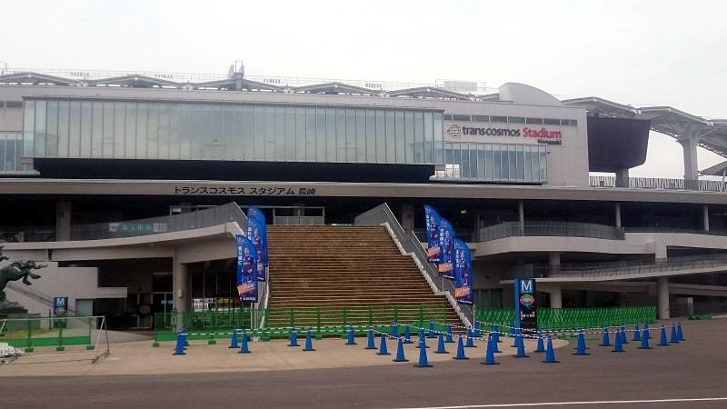 トランスコスモススタジアム長崎に到着