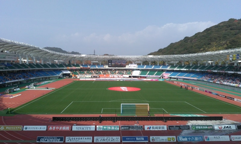 2018J1第34節 清水戦の試合開始前のスタジアム写真